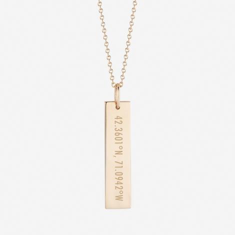 MIT Kyle Cavan Coordinates Bar Necklace