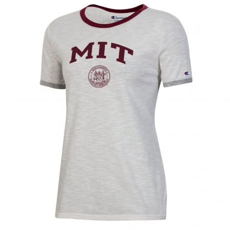 MIT Women's Slub Ringer Tee Shirt