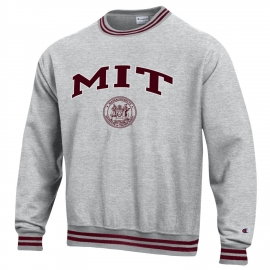 MIT Reverse Weave Yarn Dye Rib Crew Neck Sweatshirt