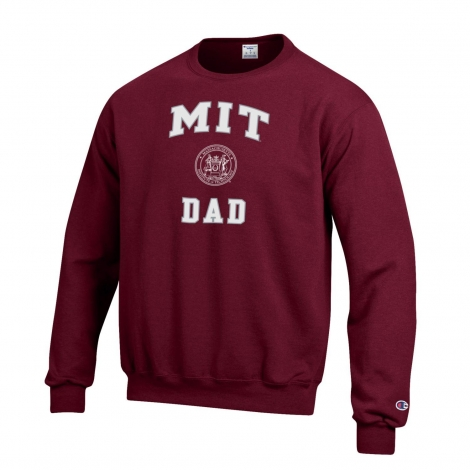 MIT Dad Champion Crew Neck Sweatshirt