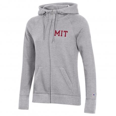 MIT Women's Champion University 2.0 Full Zip Hooded Sweatshirt