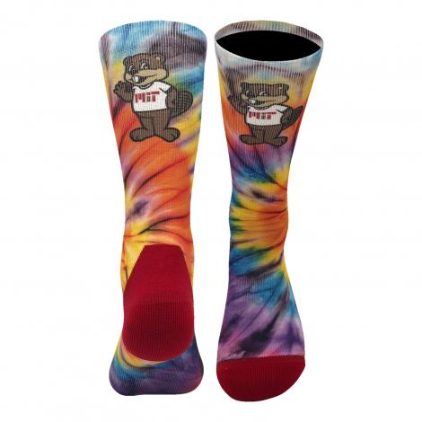MIT Tie Dye Spiral Crew Socks