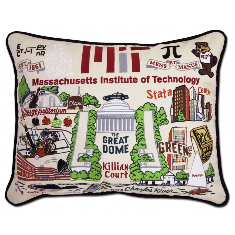 MIT Embroidered Pillow