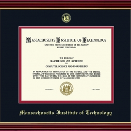 MIT Embossed Diploma Frame- (Also available in MIT Coop)
