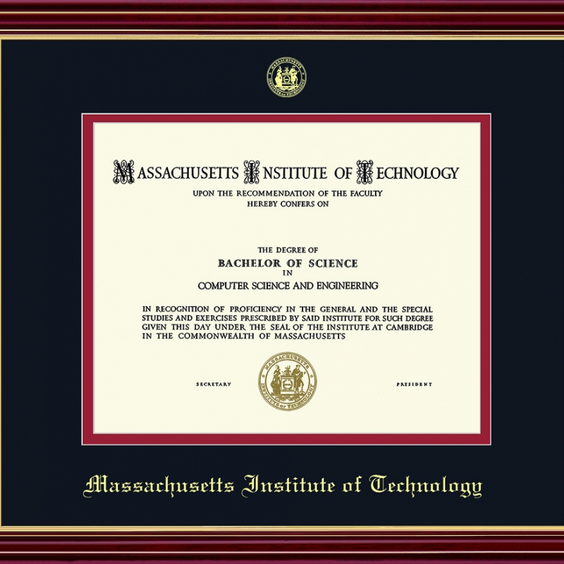 MIT Officially Licensed Embossed Diploma Frame