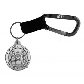 MIT Seal Pewter Carabiner Keychain