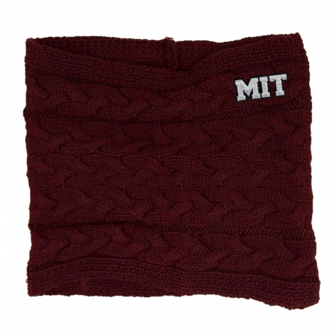 MIT Cable Knit Cowl Neck Scarf