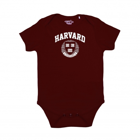 Harvard Infant Maroon Short Sleeve