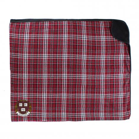 Harvard Plaid Flannel Blanket