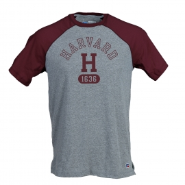 Harvard Russell Athletics Raglan Baseball Tee