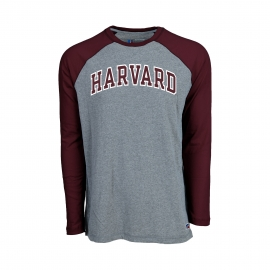 Harvard Men's Long Sleeve Baseball Tee
