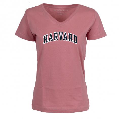 Harvard Women's Dusty Rose V-neck tee