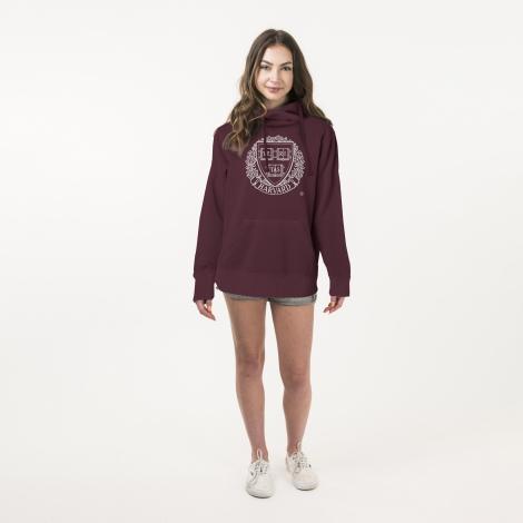 Harvard American Collegiate Women's Big Seal Essential Hooded Sweatshirt