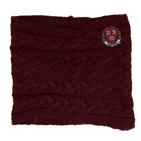 Harvard Cable Knit Cowl Neck Scarf