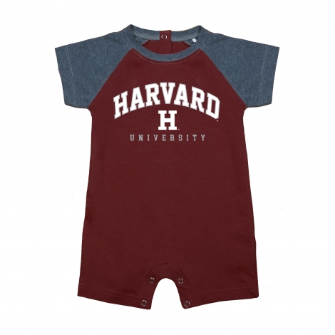 Harvard Infant Football Romper