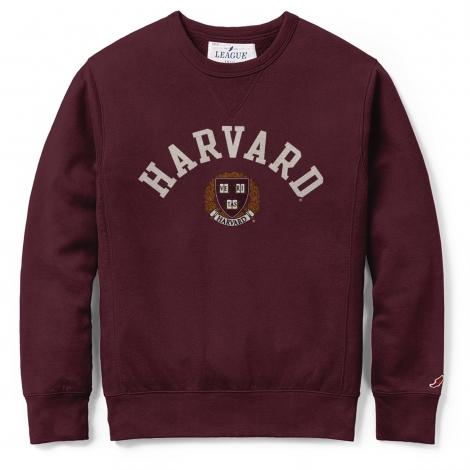 Harvard League Applique Stadium Crew Neck Sweatshirt