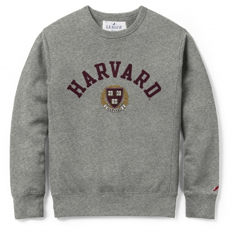 Harvard League Stadium Crew Neck Applique Sweatshirt