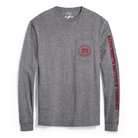 MIT League Vintage Long Sleeve Pocket Tee