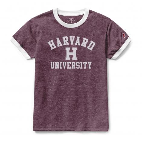 Women's Harvard Phys. Ed. Ringer tee