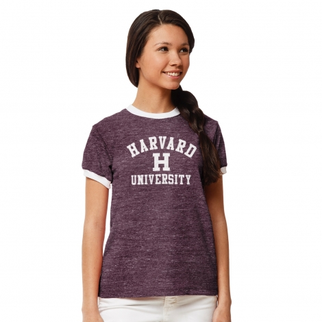 Women's Harvard Phys. Ed. Ringer Tee Shirt