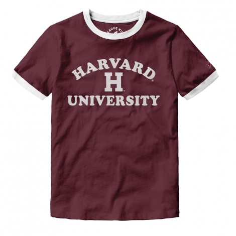 Girls Youth Harvard Camp Ringer Tee