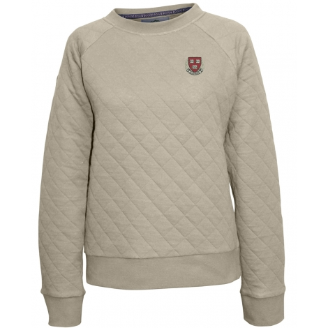 Harvard Women's Quilted Crew Sweater