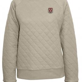 Harvard Women's Quilted Crew Neck Sweater