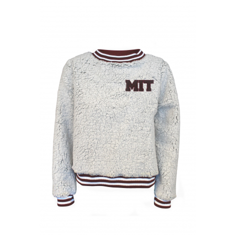 MIT Women's Sherpa Contrast Trim Crew Neck Sweater