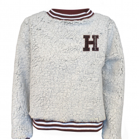 Harvard Women's Sherpa Contrast Trim Crew Neck Sweater