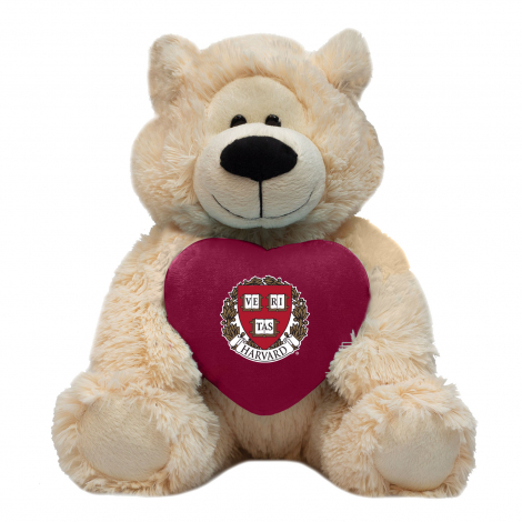 "Harvard 12"" Sophie Stuffed Teddy Bear with Heart"