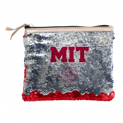 MIT Reverse Sequin Accessory Bag