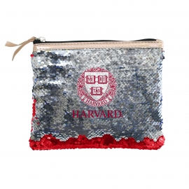 Harvard Reverse Sequin Accessory Bag
