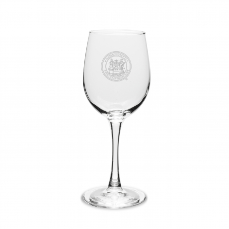 MIT Seal Engraved ( Set of 2) Crystal Wine Glass