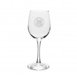 MIT Seal Engraved Set of 2 Crystal Wine Glasses
