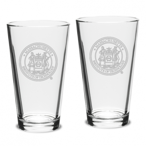 Set of 2 MIT Pub Glasses