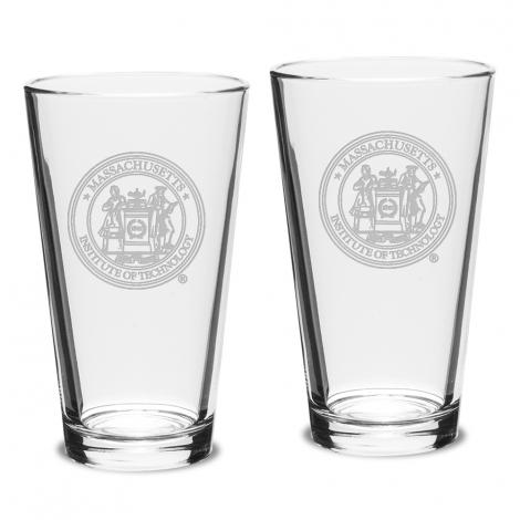 MIT Set of 2 Pub Pint Glasses
