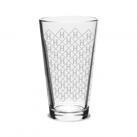 Harvard Laser Etched Scatter Print 16 oz Classic Mixing Glass