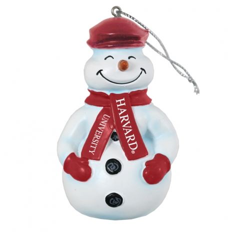 Harvard Cecil the Snowman Ornament