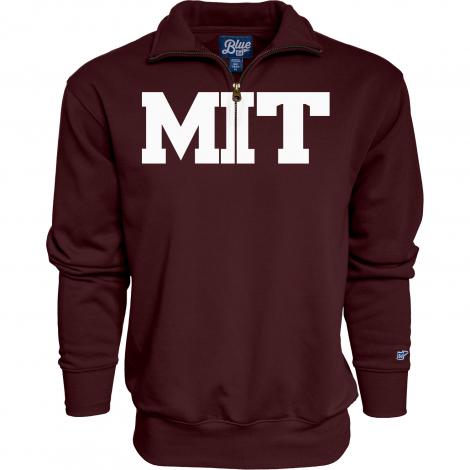 MIT Men's Sanded Fleece 1/4 Zip Sweatshirt
