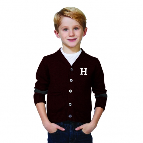 Harvard Youth Button Up Cardigan