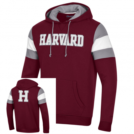 Harvard Champion Super Fan Pullover Hooded Sweatshirt