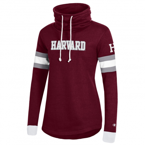 Harvard Women's Champion Super Fan Cowl Neck Pullover
