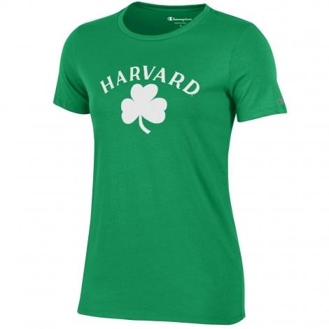 Women's Harvard Shamrock Tee Shirt