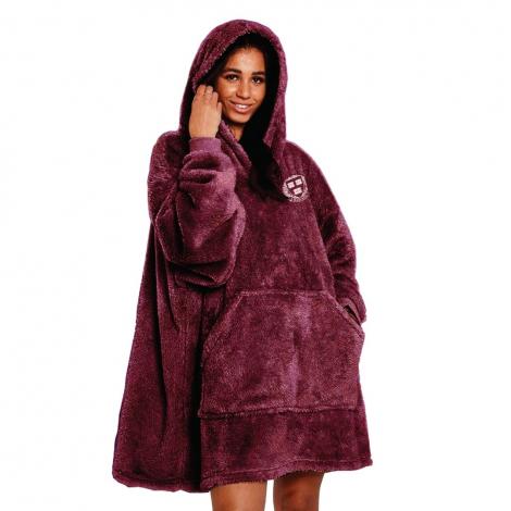 Harvard Double Plush Wearable Blanket Hoodie
