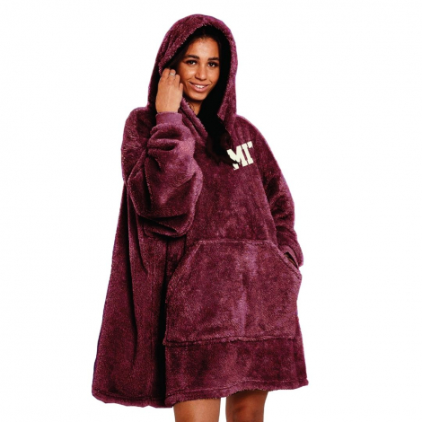 MIT Double Plush Wearable Blanket Hoodie