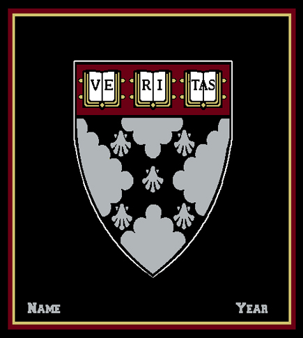 Harvard Business School Custom Made Personalized Blanket