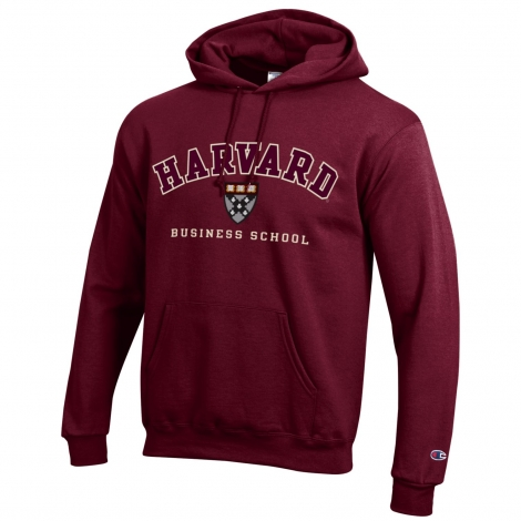 Harvard Business School Champion Applique Hooded Sweatshirt