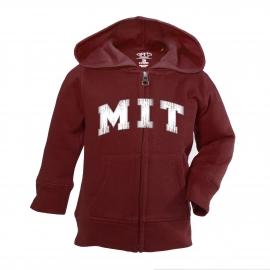 MIT Maroon Toddler Full Zip Hoodie