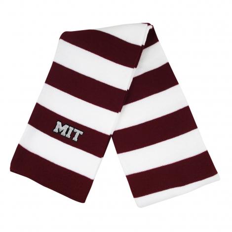 MIT Rugby Stripe Knit Scarf
