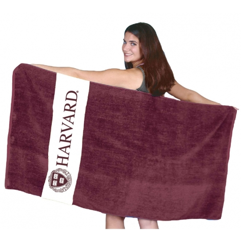 Harvard Rugby Stripe Beach Towel